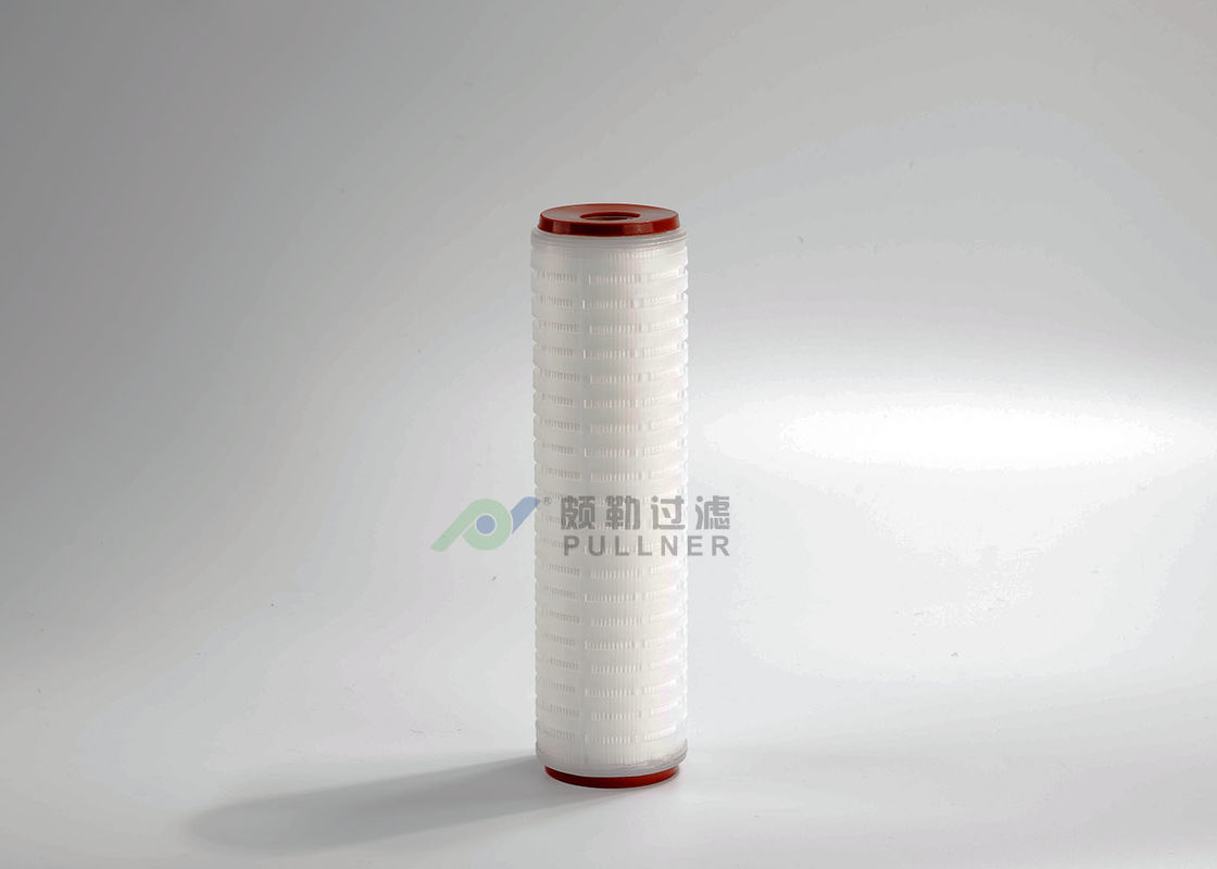 "Food Beverage Membrane Filter Cartridge 0.22um 10"" Nylon66 Pleated Durable"